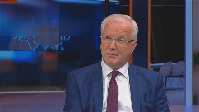 """Uutisextra, Olli Rehn kertoo MTV Uutisille, ettei aio tavoitella EKP:n johtokunnan paikkaa: """"Reissumiehen hommat saavat riittää"""""""