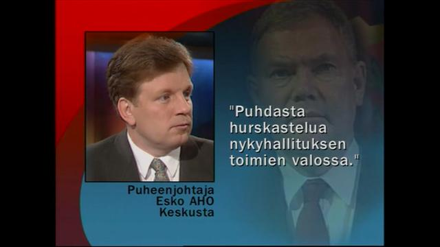 mtv.fi/retro, 1999: Aho ja Lipponen nokittelivat