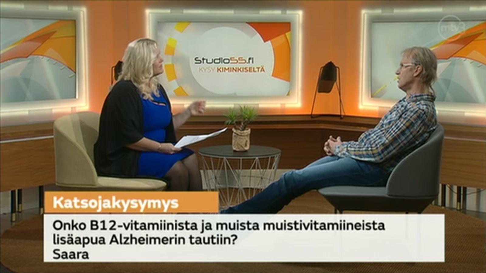 MTV Katsomo - Studio55.fi - Onko B12-vitamiinista apua Alzheimerin tautiin?