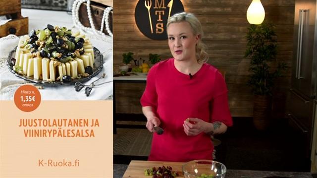 Mitä tänään syötäisiin?, Juustolautanen ja viinirypälesalsa