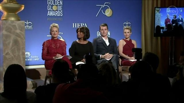 Viihde, Golden Globe ehdokkaat julkistettiin Hollywoodissa