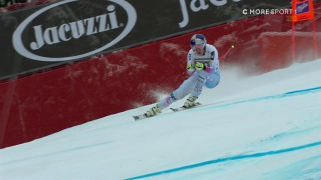 Alppihiihdon mc, Lindsey Vonn huippuvauhdissa Garmischin syöksyssä