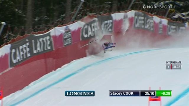 Alppihiihdon mc: Garmisch-Partenkirchen, USA:n Stacey Cook rajussa ulosajossa ennen olympialaisia