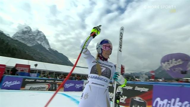 Alppihiihdon mc: Garmisch-Partenkirchen, Lindsey Vonn huippukunnossa – jälleen vahva syöksylasku